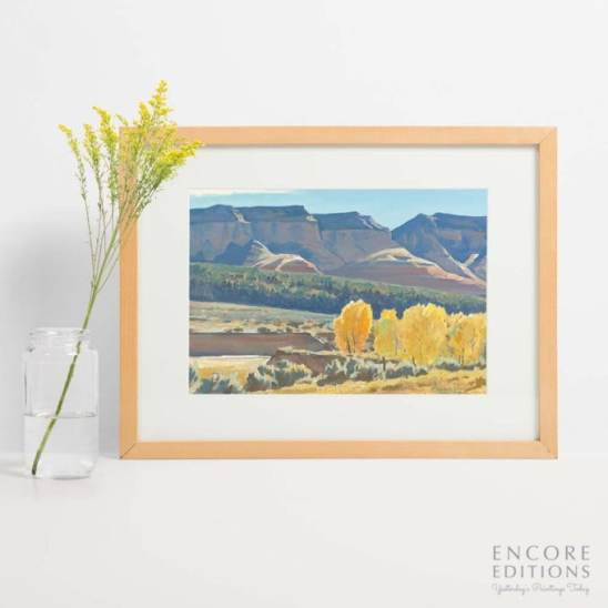 Peaceful Morning Framed Art Print by Maynard Dixon