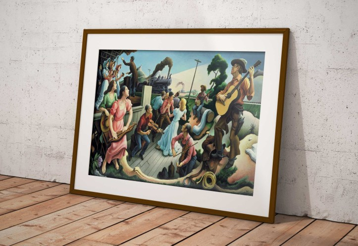 Framed art print of The Source of Country Music by Thomas Hart Benton