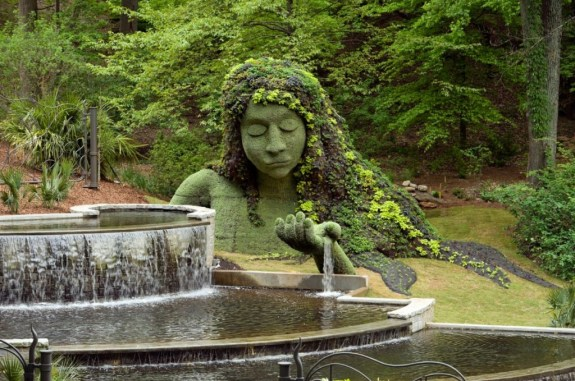 "THE EARTH GODDESS in the ""Imaginary Worlds"" exhibit at the Atlanta Botanical Garden. Photo: Joey Ivansco"