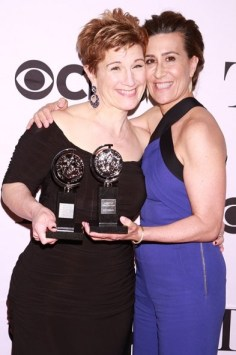 """Fun Home"" creators Lisa Kron (left) and Jeanine Tesori."
