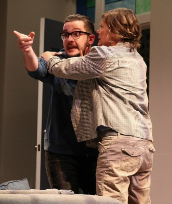 Matthew Busch and Stacy Melich as son and mother. Photo: BreeAnne Clowdus