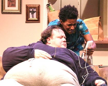 "Both Suzi winners: Freddie Ashley and Tiffany Porter in ""The Whale"" at Actor's Express. Photo: BreeAnne Clowdus"