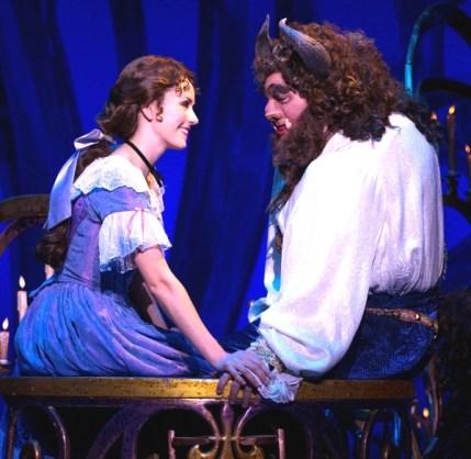 Belle and her Beast (Jillian Butterfield and Ryan Everett Wood. Photo: Matthew Murphy