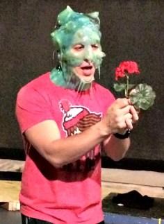"""The Toxic Avenger"" at Horizon Theatre: Nick Arapoglou, in rehearsal."