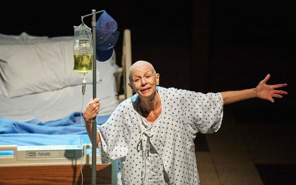 "Mary Lynn Owen as professor Vivian Bearing in ""Wit"" at Aurora Theatre. Photo: Chris Bartelski"