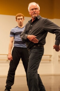 John McFall, in rehearsal with dancer Heath Gill. Photo: Charlie McCullers