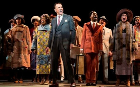 """""""Shuffle Along"""" etc. features Brian Stokes Mitchell (center), an all-star cast and the talents of director George C. Wolfe and choreographer Savion Glover. Photo: Julieta Cervantes"""