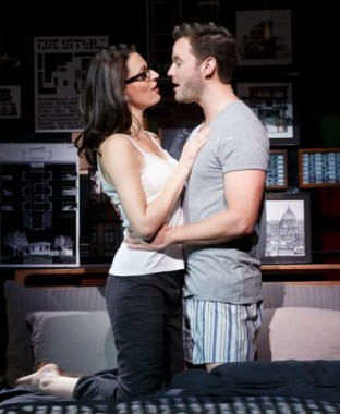 Beth (Jackie Burns) chooses love with a newly stateside soldier (Matthew Hydzik). Photo: Joan Marcus