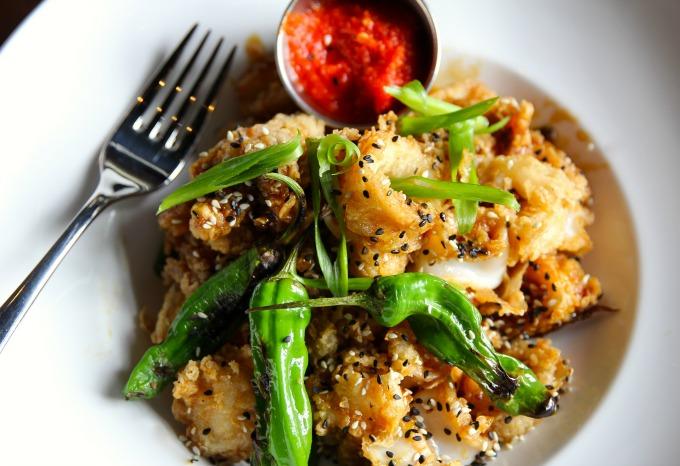 Crispy rock shrimp and calamari at 101 Steak in Vinings. Photos by David Danzig