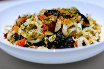 Black tagliatelle with squid at 5Church. Photo: David Danzig