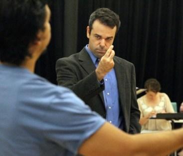 Atlanta Opera leader Tomer Zvulun in rehearsal. Photo: The Atlanta Journal-Constitution
