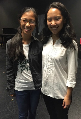 """Anna Zheng (left) is one of the Paideia students who helped create """"Slur."""" Michelle Pokopac is the professional act(or who brings several roles to life on the Alliance stage, including the one based on Anna."""