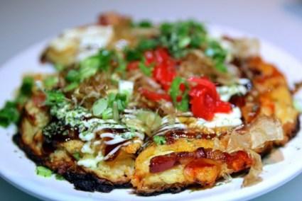 At Nexto, the okonomiyaki or Japanese pancake,
