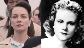 "Tara Ochs in ""Selma"" (left), and the real Viola Liuzzo."