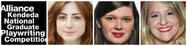 The playwrights: Emily Feldman (left), Lindsey Ferrentino and Mora V. Harris.