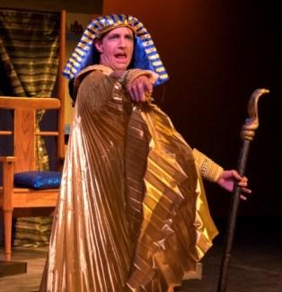 Davin Grindstaff as the Pharoah. Photo: Brian Wallenberg