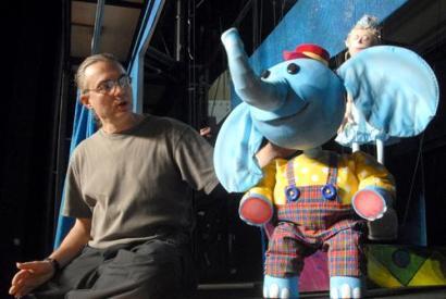 Creator Jon Ludwig (left) and a pal.