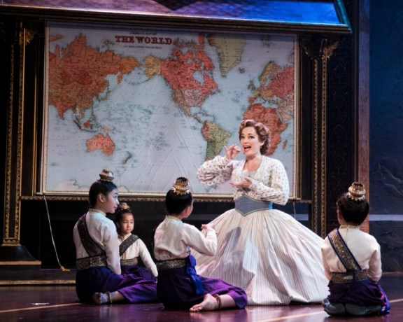 """Laura Michelle Kelly as Mrs. Anna, teaching the King's children in """"Getting to Know You."""" Photo: Matthew Murphy"""