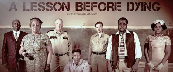 The acting company (from left): Kerwin Thompson, Elisabeth Omilami, Lee Buechele, Simeon Daise, Trevor Goble, Enoch King and Brittany L. Smith.