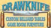 drawknife custom billiard tables game room furniture logo