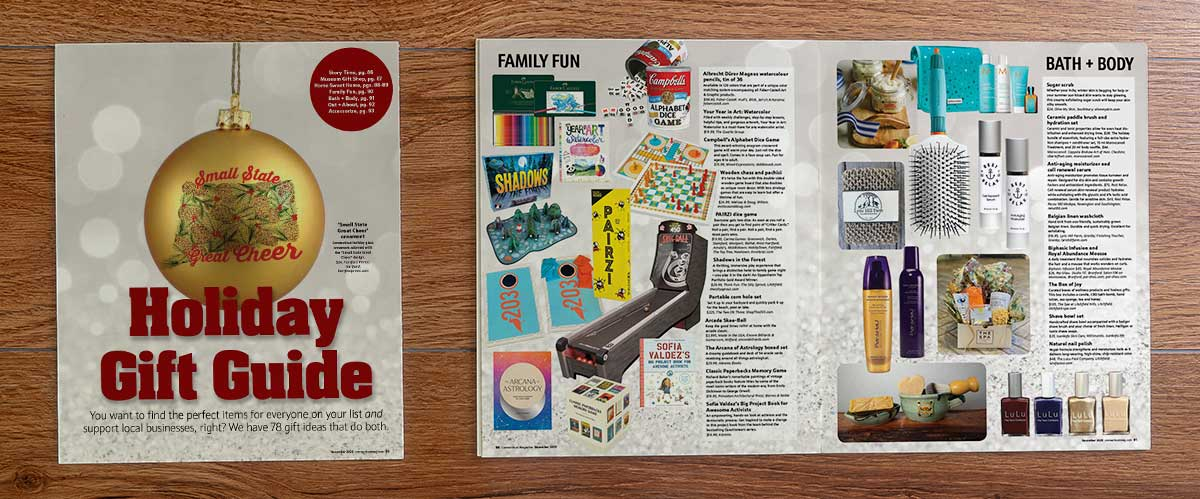 encore billiards featured in ct mag holiday gift guide spread