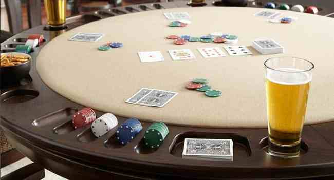 card table open