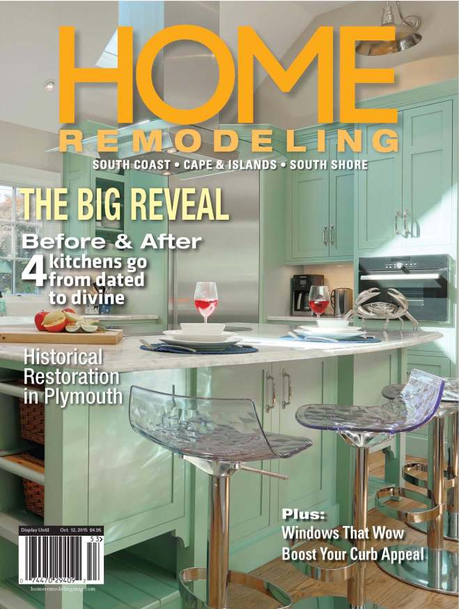 As seen on the cover of the Summer 2015 Edition of Home Remodeling Magazine.