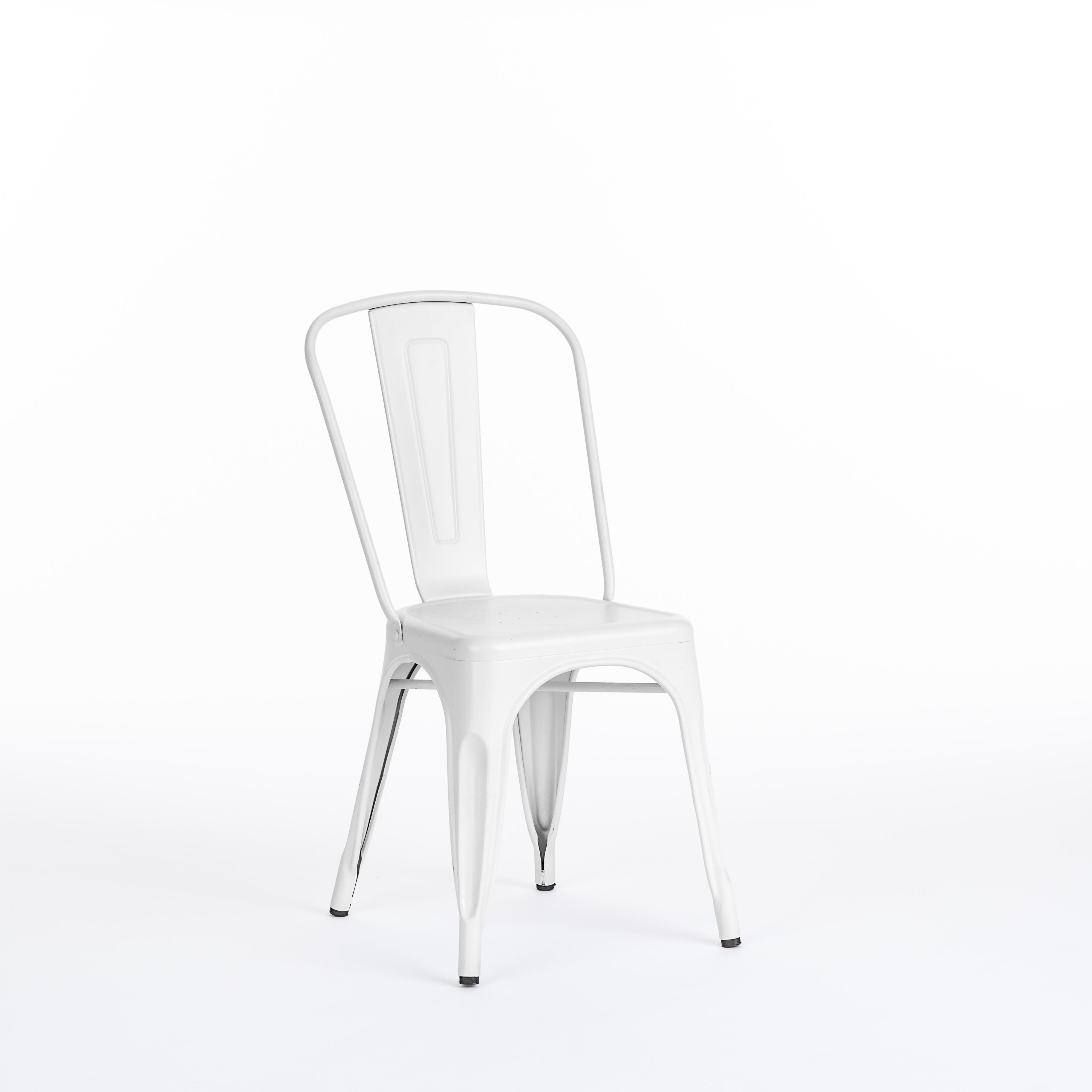 Ashton Chair White Metal