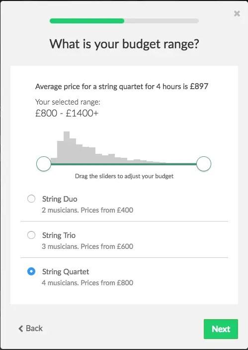 budget slider