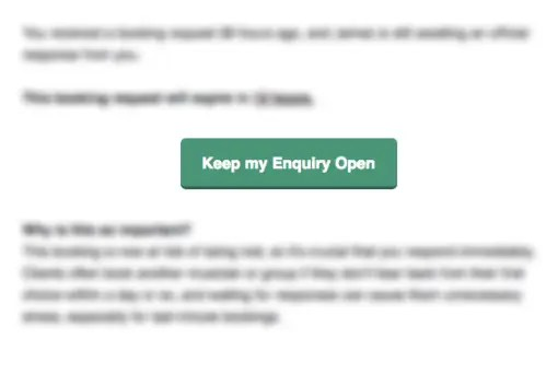 keep enquiry open button