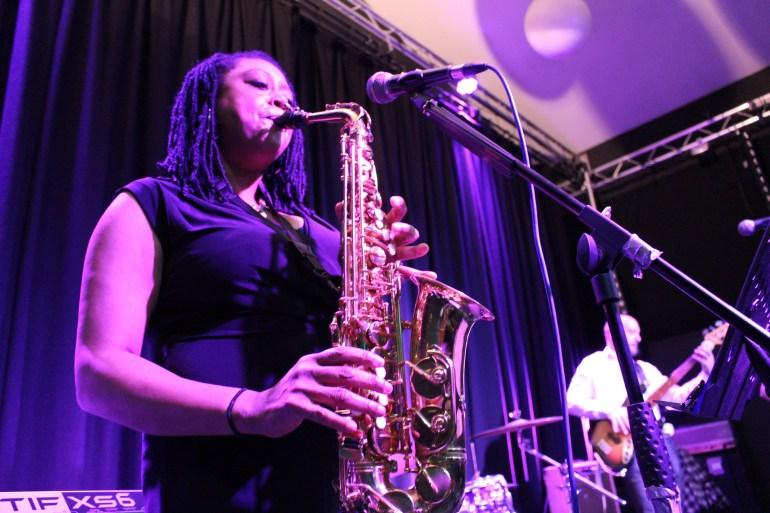 Encore saxophonist, Anne-Marie Atkins