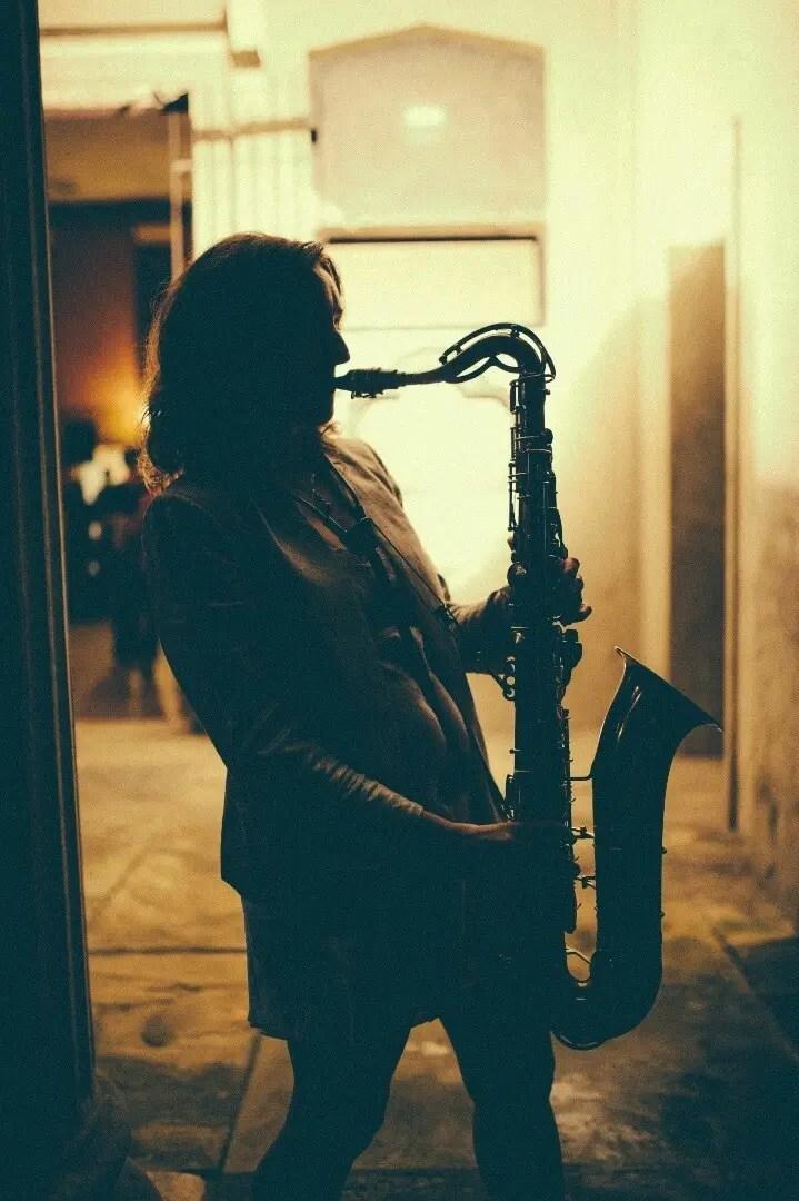 Encore saxophonist, Katy Jungmann