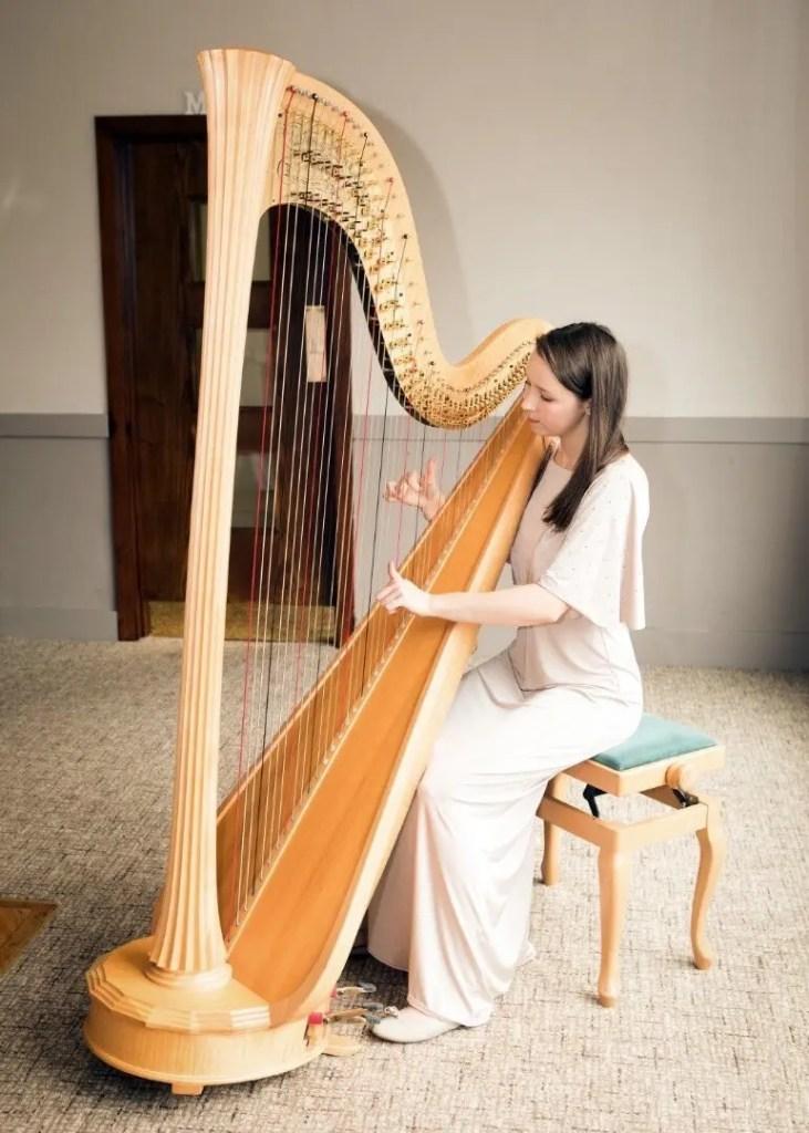 Harpist Elinor Nicholson
