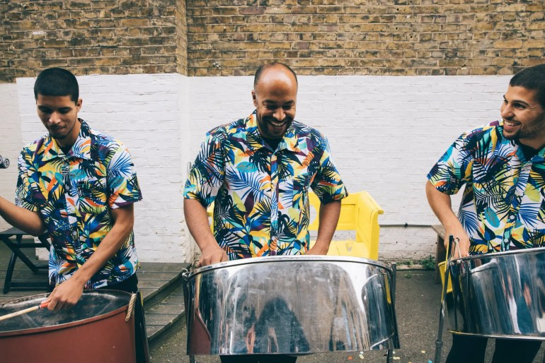 Sunny Steel Band performing outdoors