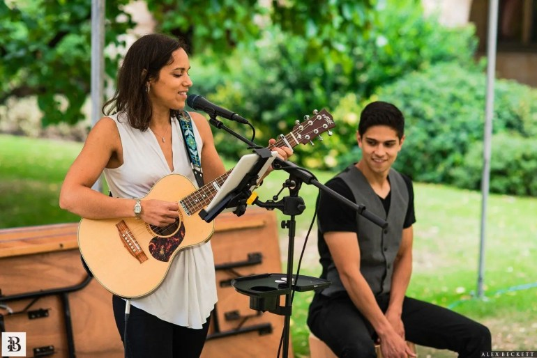 Bethany Jane and Bro performing outdoors