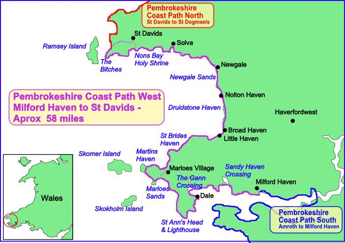 Image result for pembrokeshire map newgale