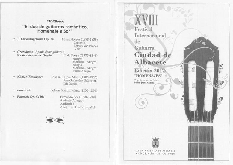 """XVIII Festival Internacional de Guitarra """"Ciudad de Albacete"""""""
