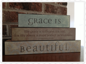 vintage block set from Mary and Martha 83728 - grace is beautiful