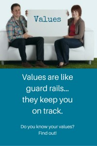 do you know your values - they keep you safe and on track