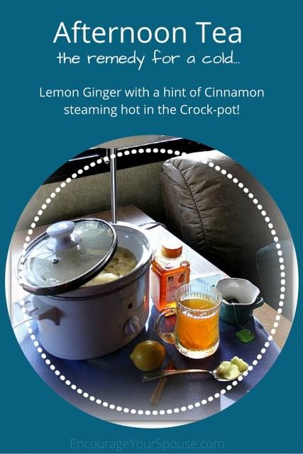 Afternoon Tea Lemon Ginger in the Crock-Pot