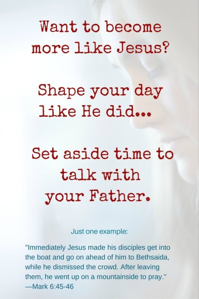 pray - make time to talk with your Father if you want to become more like Jesus - failure into fun