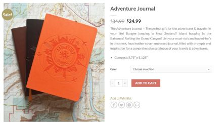 "What a cool idea - a place to put all your ""bucket list"" ideas and then journal about them as they happen."