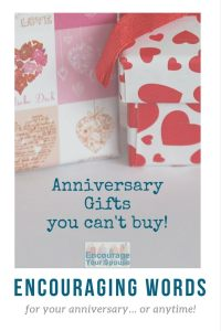 Anniversary Gifts you can't buy - what would you add to the list?