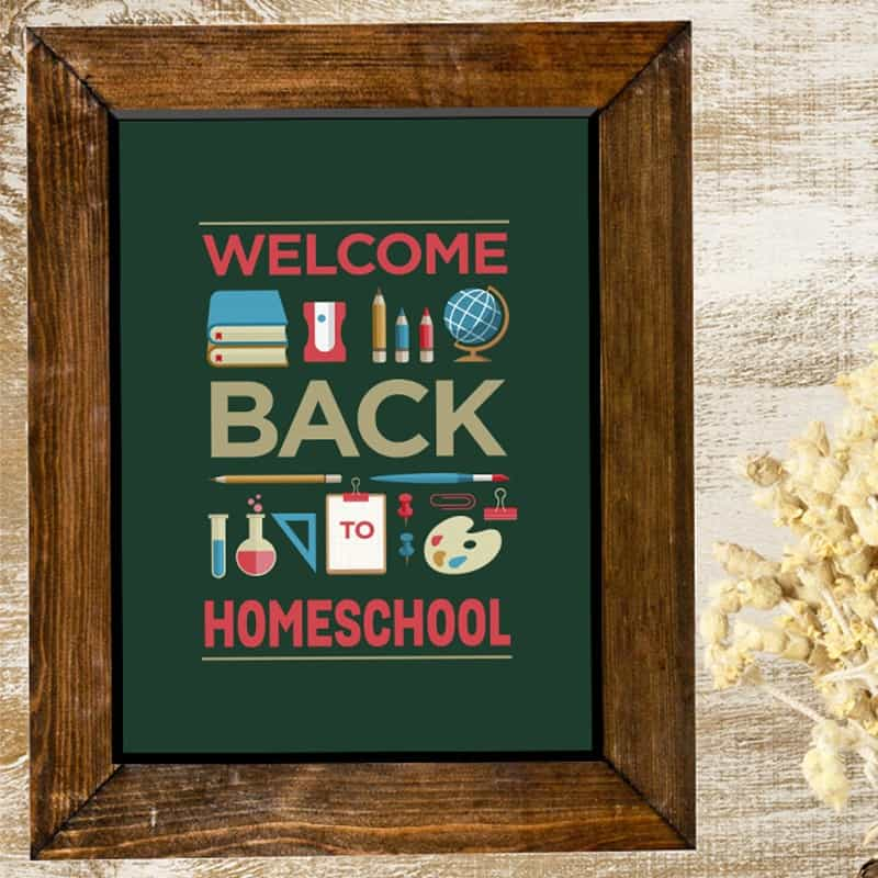 Welcome Back To Homeschool Poster