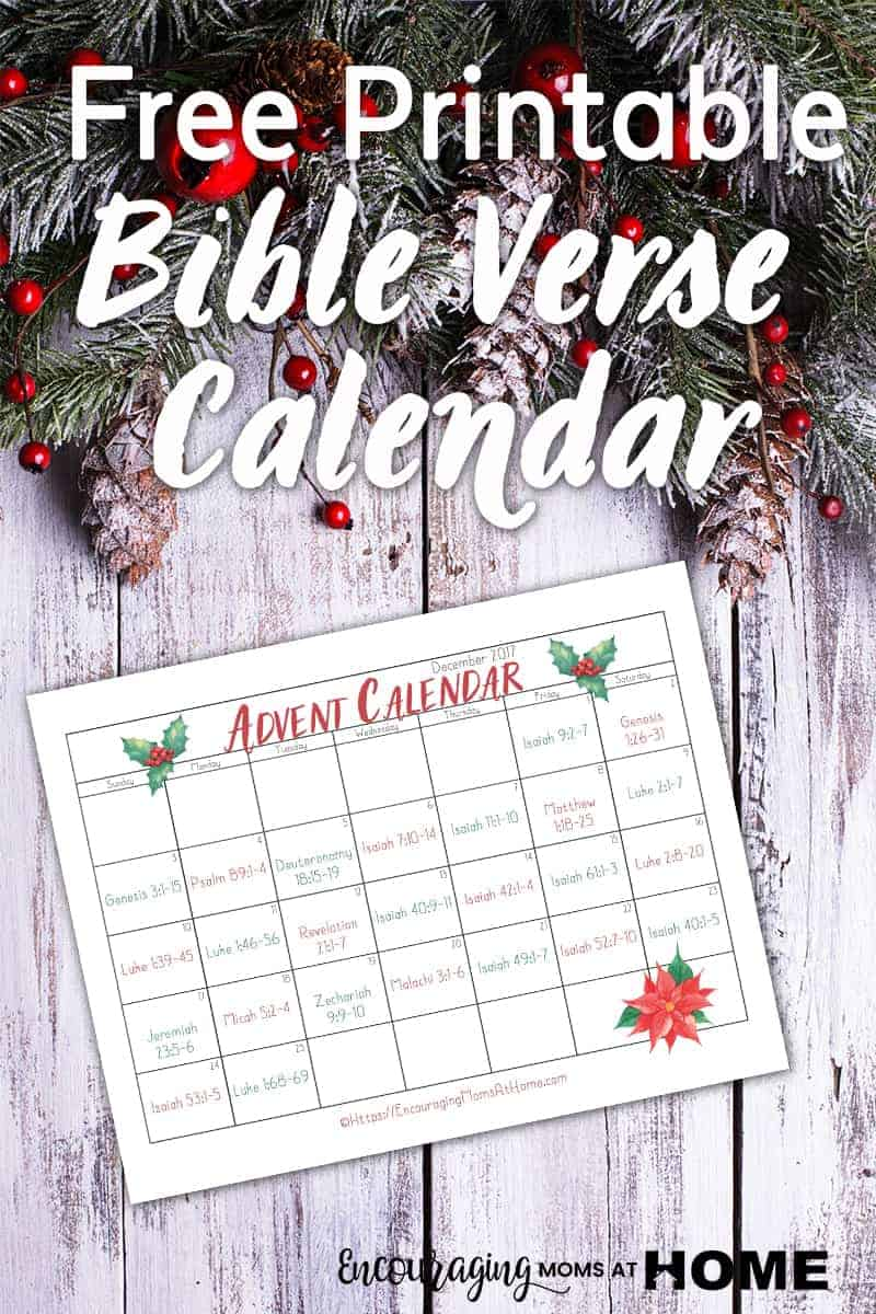 Calendar Printable 2017 Advent Scripture