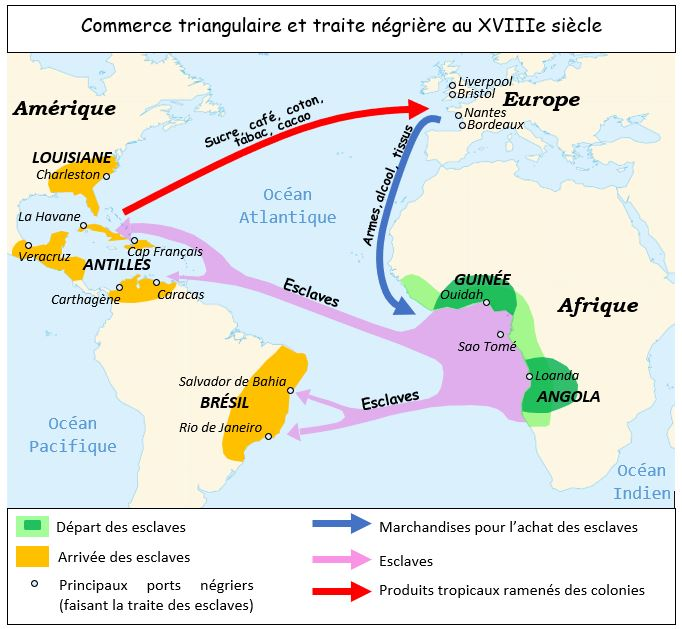 commerce colonial et traite negriere au