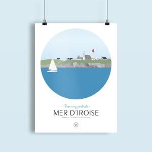 affiche pointe saint mathieu, entrée en mer d'iroise