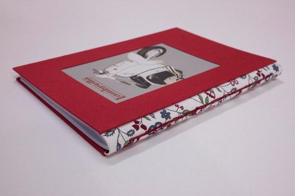 cuaderno con lomo acabado en tela