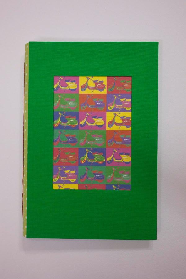 cuadernos de notas ilustración vespas