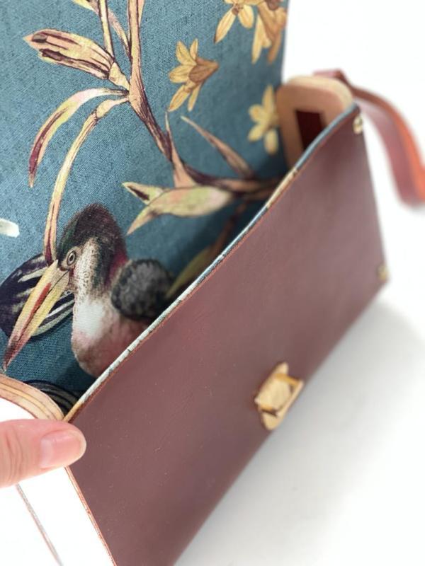 interior bolso de mano artesanal